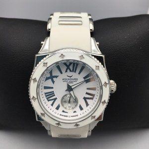🆕 Diamond AQUASWISS Swissport L Watch 💎